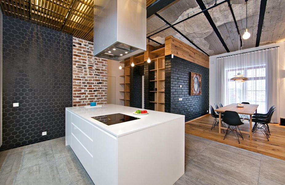 moderne k che mit insel lizenzfreie stockfotografie. Black Bedroom Furniture Sets. Home Design Ideas