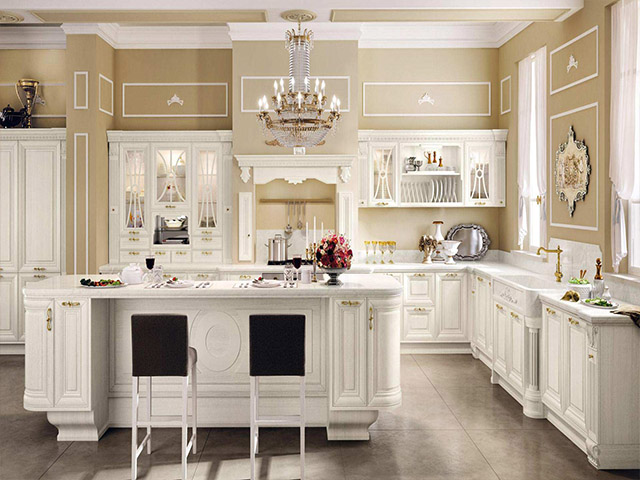 die k che im klassischen stil. Black Bedroom Furniture Sets. Home Design Ideas