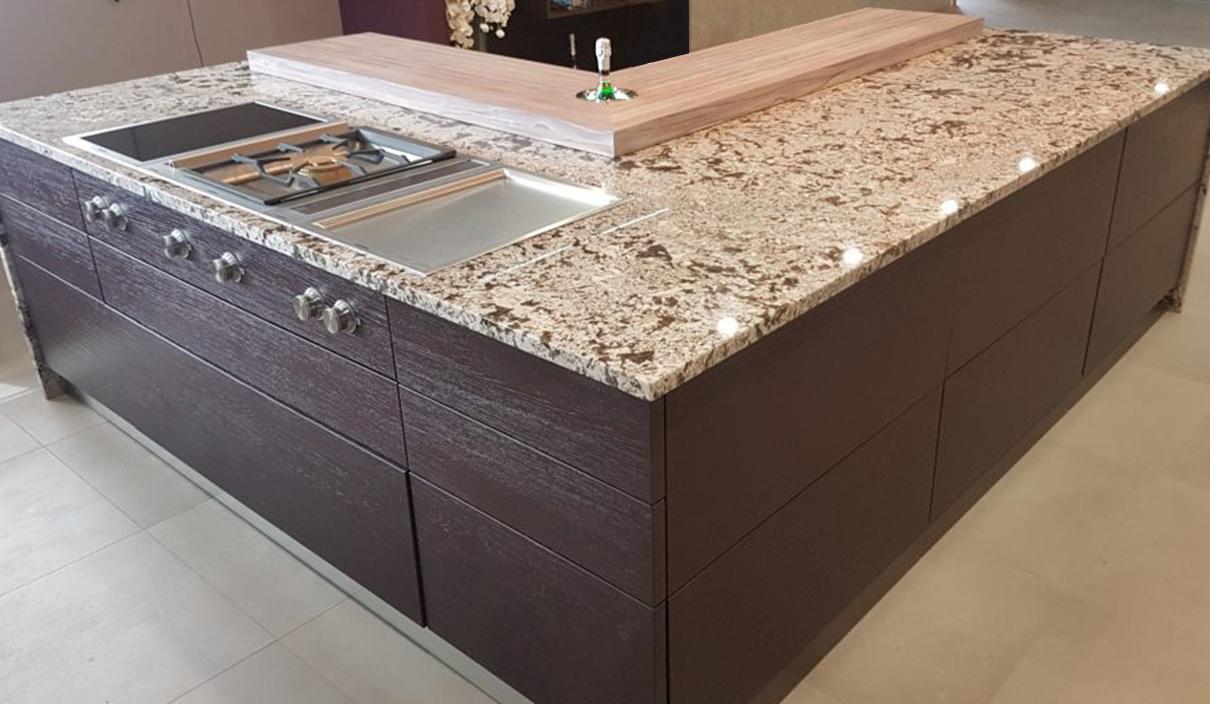 Der modische Granit in der natürlichen Küche 4