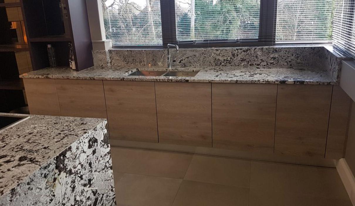Der modische Granit in der natürlichen Küche 6