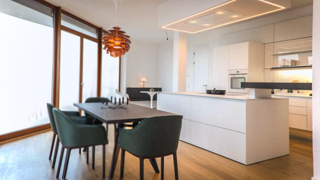 Die zeitgenössische weiße Küche 6