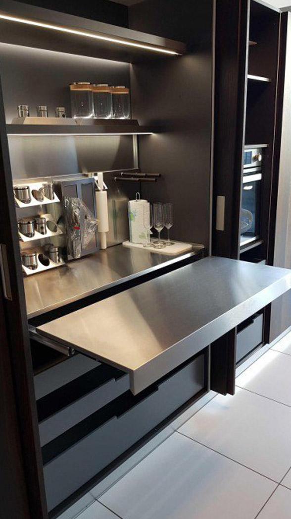 Es ist sehr heimlich und elegant in der modernen Küche 7