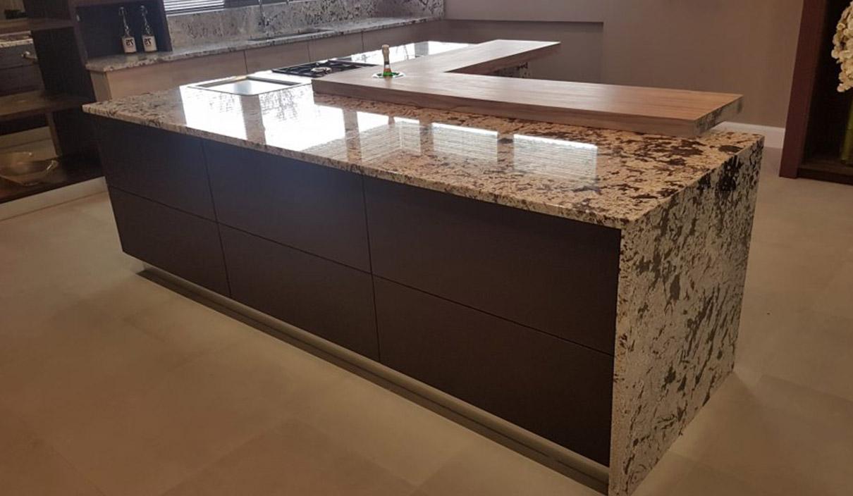 Der modische Granit in der natürlichen Küche 3